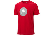 Marmot Men's Textured M Dot Tee SS cardinal